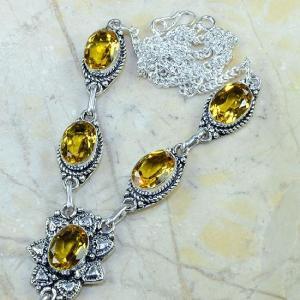 Ct 0133b collier sautoir parure citrine lemon citron argent 925 achat vente bijou