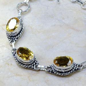 Ct 0137b bracelet citrine doree lemon citron madere argent 925 bijoux achat vente