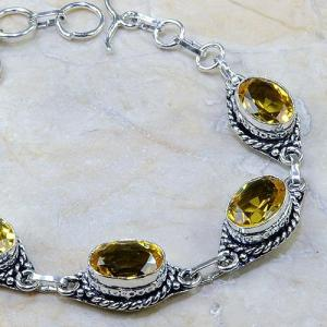 Ct 0137c bracelet citrine doree lemon citron madere argent 925 bijoux achat vente