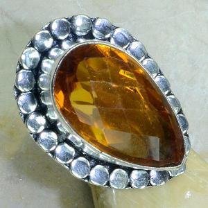 Ct 0138b bague t57 citrine lorange madere argent 925 bijoux achat vente
