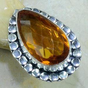 Ct 0138c bague t57 citrine lorange madere argent 925 bijoux achat vente