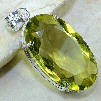 Ct 0145a pendentif pendant pierre taillee citrine lemon citron argent 925 bijoux achat vente