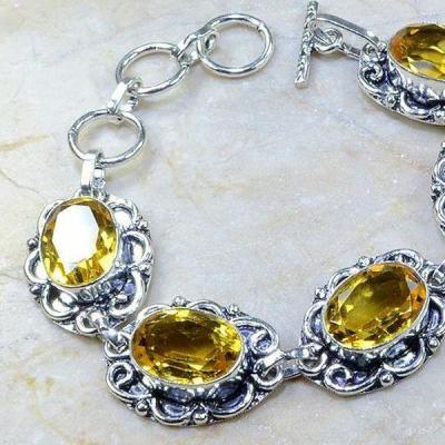 Ct 0152b bracelet citrine doree lemon citron madere argent 925 bijoux achat vente