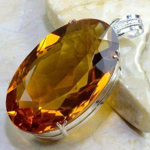 Ct 0160b pendentif pendant pierre taillee citrine orange madere argent 925 bijoux achat vente