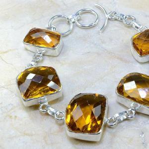 Ct 0165b bracelet citrine doree lemon citron madere argent 925 bijoux achat vente
