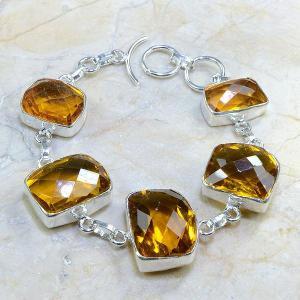 Ct 0165d bracelet citrine doree lemon citron madere argent 925 bijoux achat vente