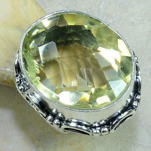 Ct 0183b bague t59 citrine lemon citron argent 925 bijoux achat vente