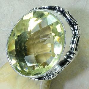 Ct 0183c bague t59 citrine lemon citron argent 925 bijoux achat vente