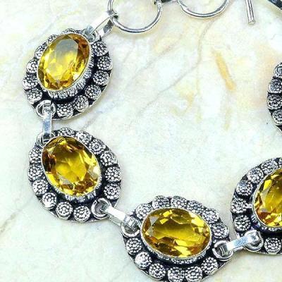 Ct 0194b bracelet citrine orange madere argent 925 bijoux achat vente