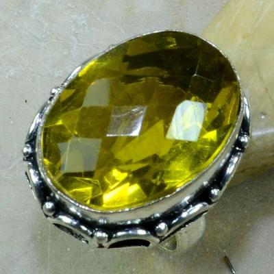 Ct 0195a bague t55 citrine lemon citron argent 925 bijoux achat vente