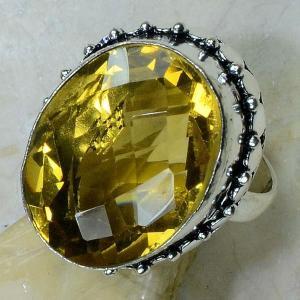 Ct 0196b bague t59 citrine lemon citron argent 925 bijoux achat vente