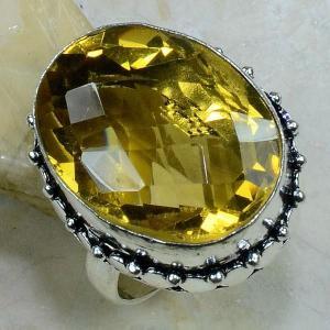 Ct 0196c bague t59 citrine lemon citron argent 925 bijoux achat vente