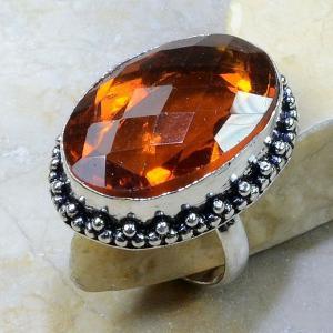 Ct 0198a bague t61 citrine madere orange argent 925 bijoux achat vente
