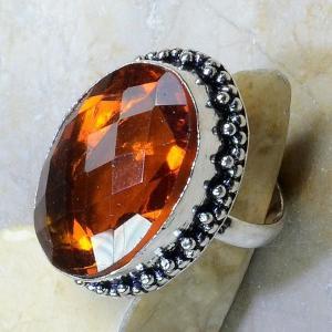 Ct 0198b bague t61 citrine madere orange argent 925 bijoux achat vente