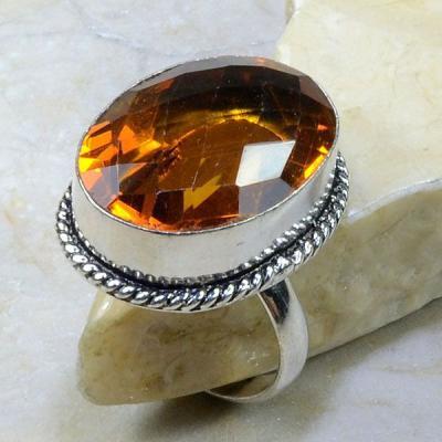 Ct 0199a bague t64 citrine madere orange argent 925 bijoux achat vente