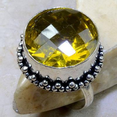Ct 0211a bague t62 citrine lemon citron argent 925 bijoux achat vente