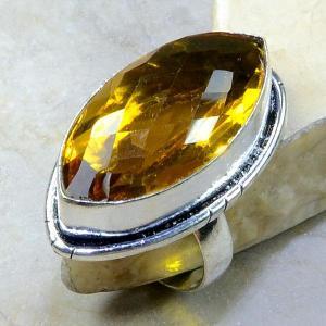 Ct 0213a bague t61 citrine lemon citron argent 925 bijoux achat vente