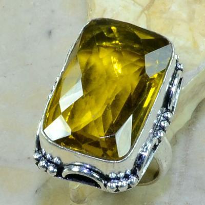 Ct 0215a bague t57 citrine lemon citron argent 925 bijoux achat vente