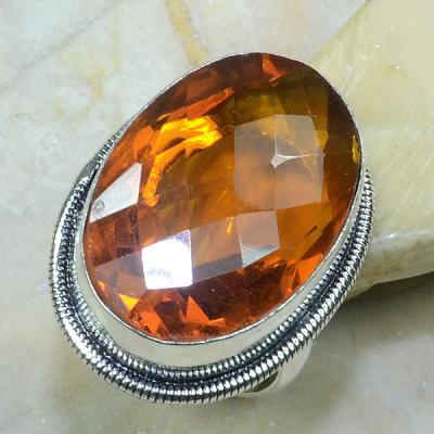 Ct 0217a bague t60 citrine madere orange argent 925 bijoux achat vente