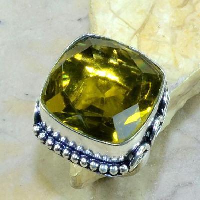 Ct 0221a bague t57 citrine lemon citron argent 925 bijoux achat vente