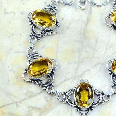 Ct 0224b bracelet citrine doree lemon citron argent 925 bijoux achat vente 1