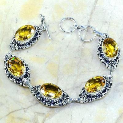 Ct 0225a bracelet citrine doree lemon citron argent 925 bijoux achat vente