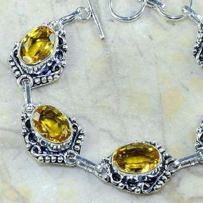 Ct 0226b bracelet citrine doree lemon citron argent 925 bijoux achat vente