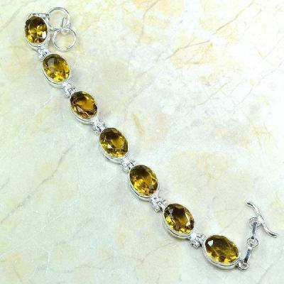 Ct 0230a bracelet citrine doree lemon citron argent 925 bijoux achat vente