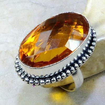 Ct 0233a bague t57 citrine madere orange argent 925 bijoux achat vente