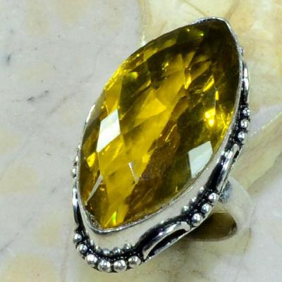 Ct 0234a bague t57 citrine lemon citron argent 925 bijoux achat vente