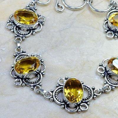 Ct 0244b bracelet citrine doree lemon citron argent 925 bijoux achat vente