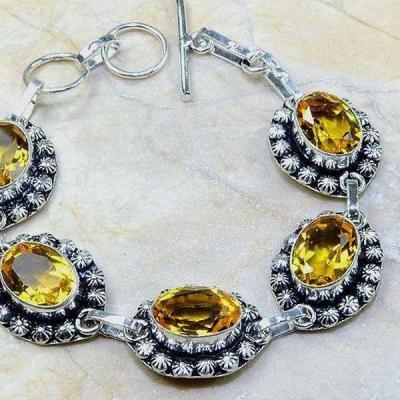 Ct 0245c bracelet citrine doree lemon citron argent 925 bijoux achat vente