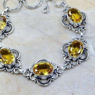 Ct 0246b bracelet citrine doree lemon citron argent 925 bijoux achat vente