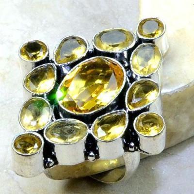 Ct 0266a bague t57 citrine lemon citron argent 925 bijoux achat vente