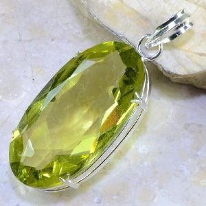Ct 0325b pendentif pendant citrine lemmon citron vert lithotherapie bijoux achat vente