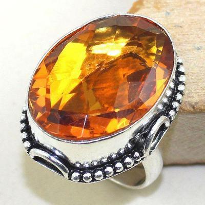 Ct 0342a bague chevaliere t60 citrine madere orange argent 925 bijoux achat vente
