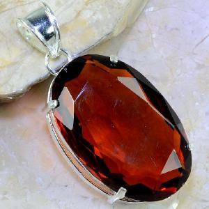 Ct 0355a pendentif pendant citrine orange doree lithotherapie argent 925 bijoux achat vente