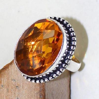 Ct 0393c bague chevaliere t54 citrine madere orange argent 925 bijoux achat vente