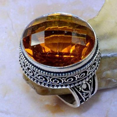 Ct 0394a bague chevaliere t59 citrine madere orange medievale argent 925 bijoux achat vente