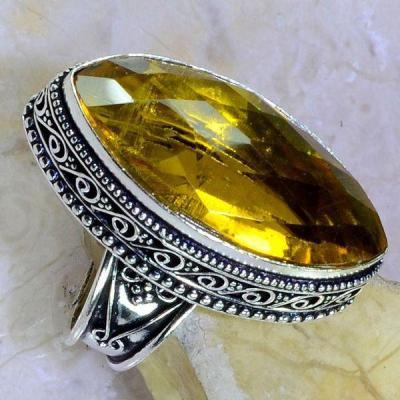 Ct 0401c bague chevaliere t58 citrine lemon citron medievale argent 925 bijoux achat vente