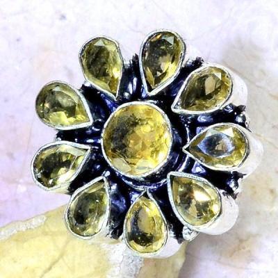 Ct 0402c bague chevaliere t53 citrine lemon citron medievale argent 925 bijoux achat vente 1