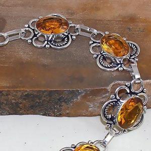 Ct 0413b bracelet citrine lemon citron doree argent 925 bijoux achat vente