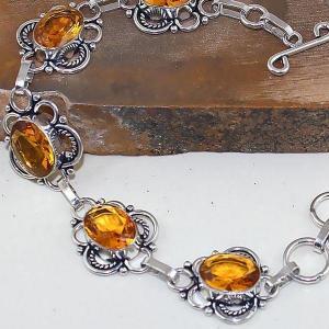 Ct 0413c bracelet citrine lemon citron doree argent 925 bijoux achat vente