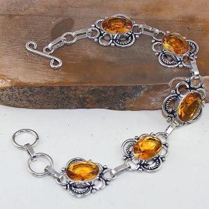 Ct 0413d bracelet citrine lemon citron doree argent 925 bijoux achat vente