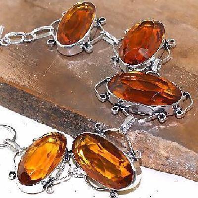 Ct 0435b bracelet citrine orange madere whisky argent 925 bijoux achat vente