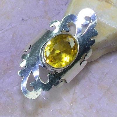 Ct 0455a bague t56 chavaliere citrine orange ambre argent 925 bijoux achat vente