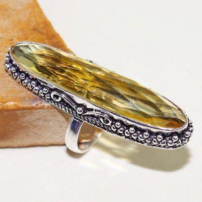 Ct 0463b bague chevaliere t56 citrine lemon doree medievale argent 925 bijoux achat vente