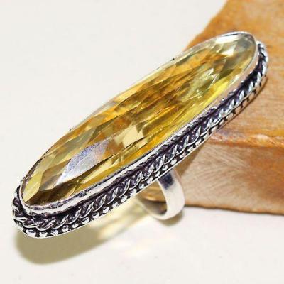 Ct 0466a bague chevaliere t60 citrine lemon doree medievale argent 925 bijoux achat vente