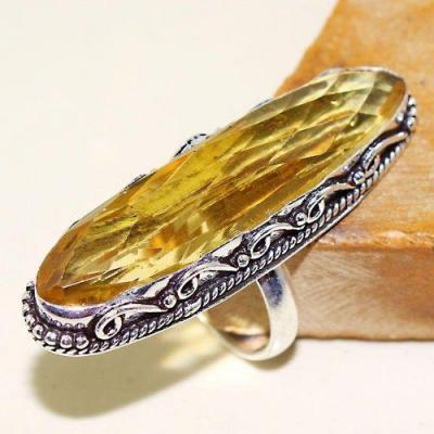 Ct 0468a bague chevaliere t57 citrine lemon doree medievale argent 925 bijoux achat vente