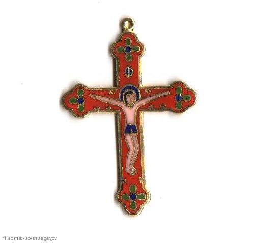 Cx 066b croix cretienne crucifix jesus christ insigne pelerin
